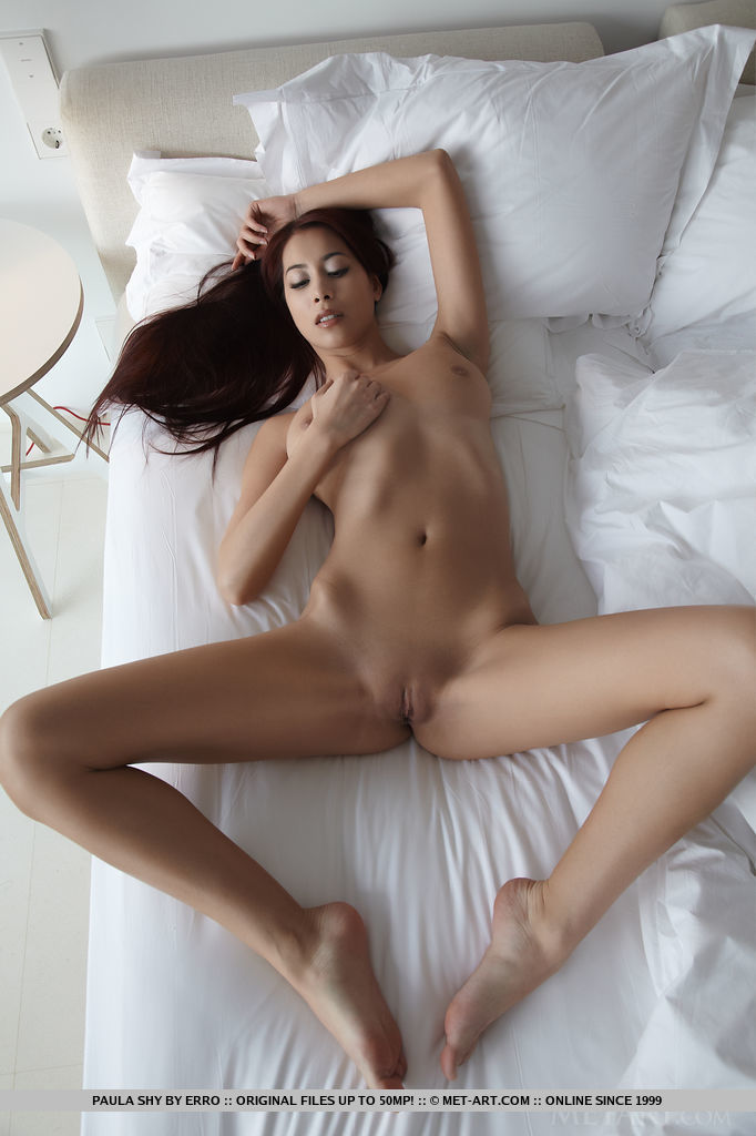 Shy nude and spread