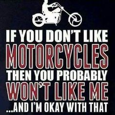 Only real men ride harleys and eat pussy