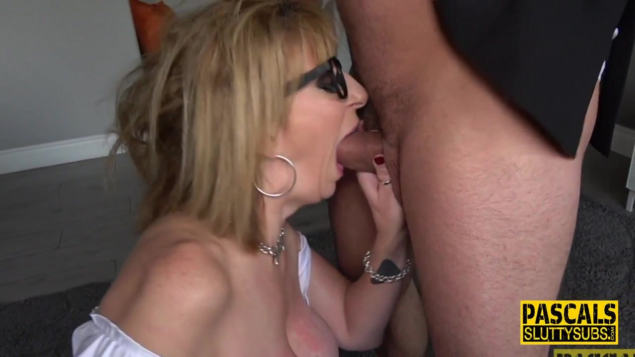 Busty mature submissive