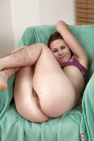 Nude girl with hairy legs