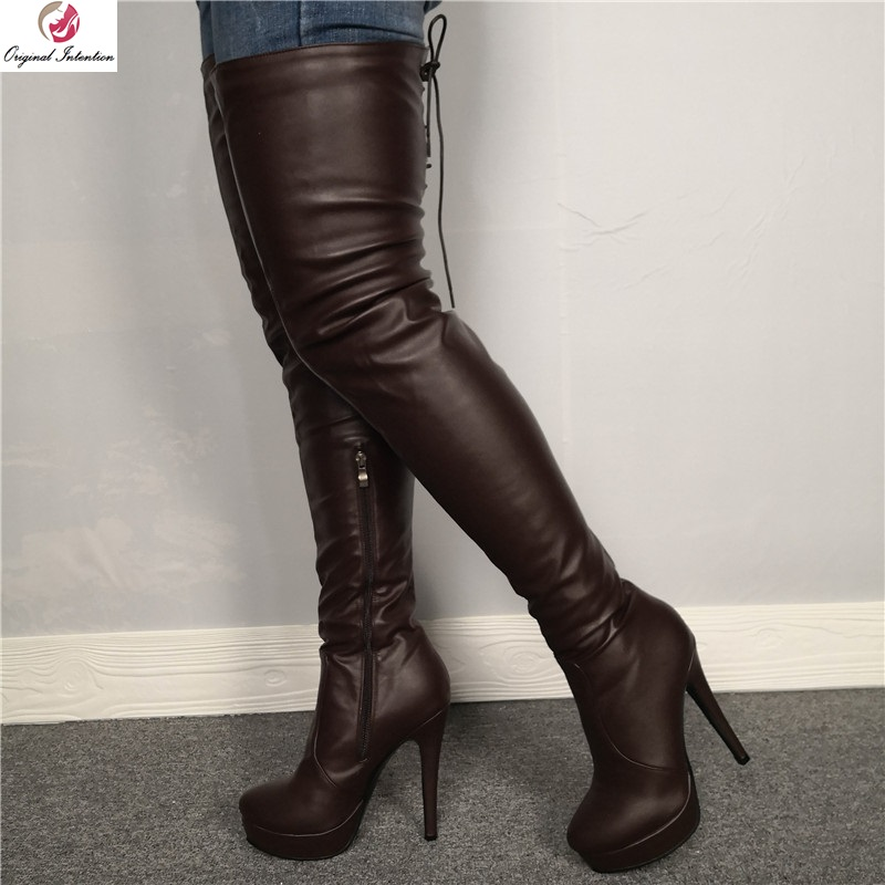 Mature in thigh high boots