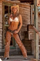Naked girls in boots and chaps