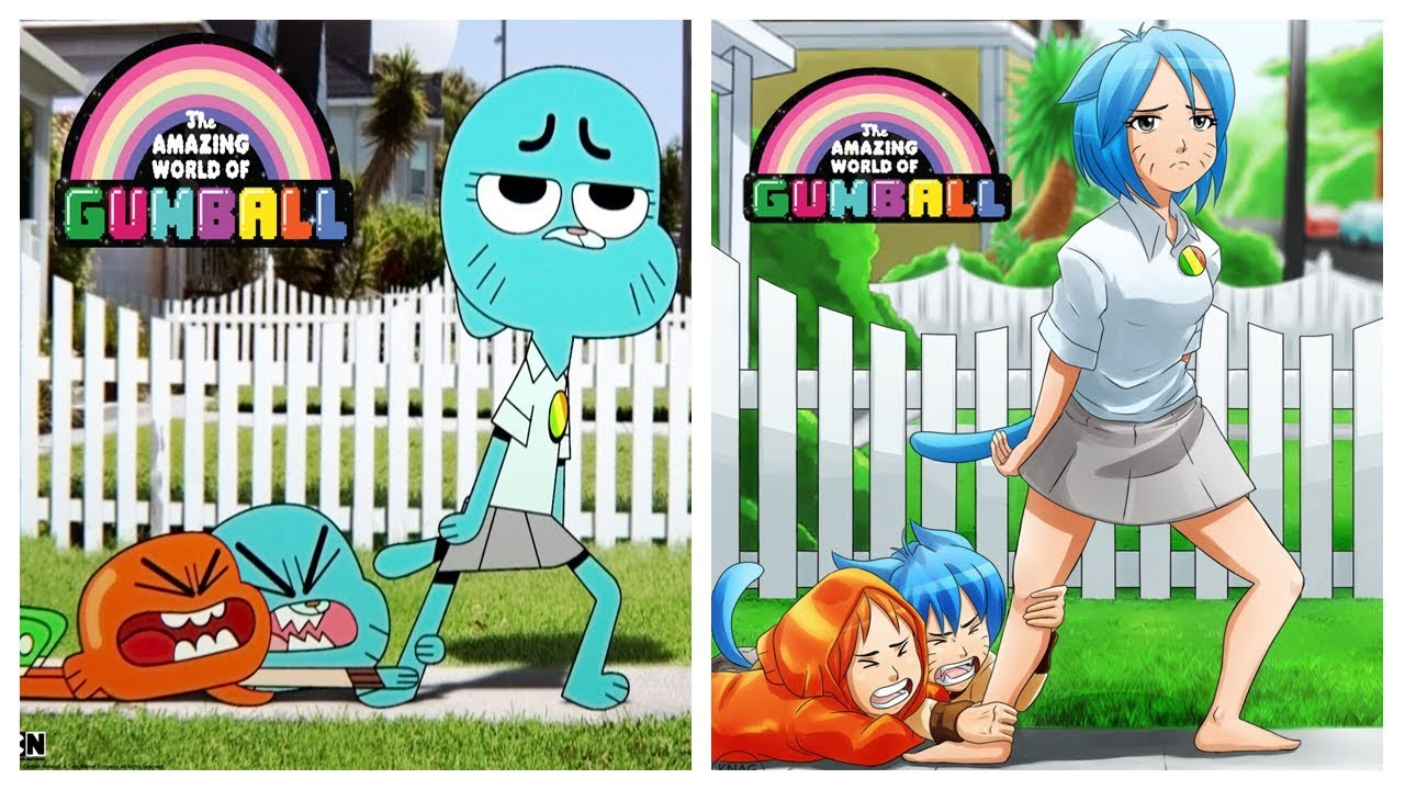 The amazing world of gumball as anime